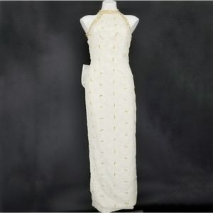 Vintage Bead/Sequin Wedding Dress Size 12